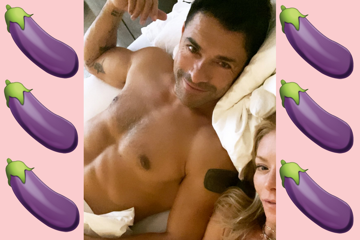 Kelly Ripa Accidentally Shows Off Hubby Mark Consuelos' HUGE Package On Instagram!