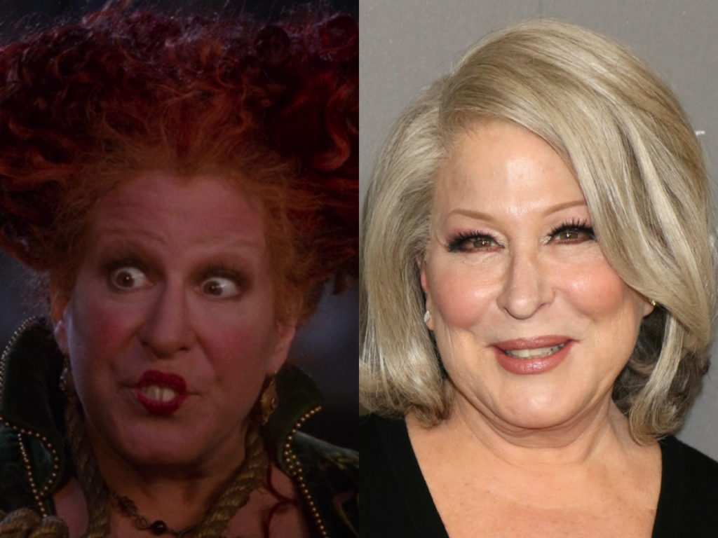 bette midler of hocus pocus then and now