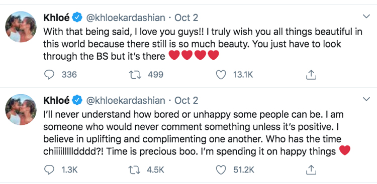 Khloé Kardashian clearly has some thoughts about how people are reacting to her new look!