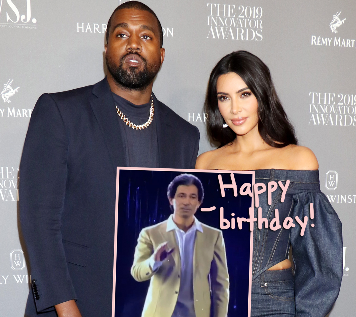 Kanye West Got Kim Kardashian A Hologram Of Her Late Father Robert Kardashian For Her Birthday! Magical Or Creepy?? - Perez Hilton