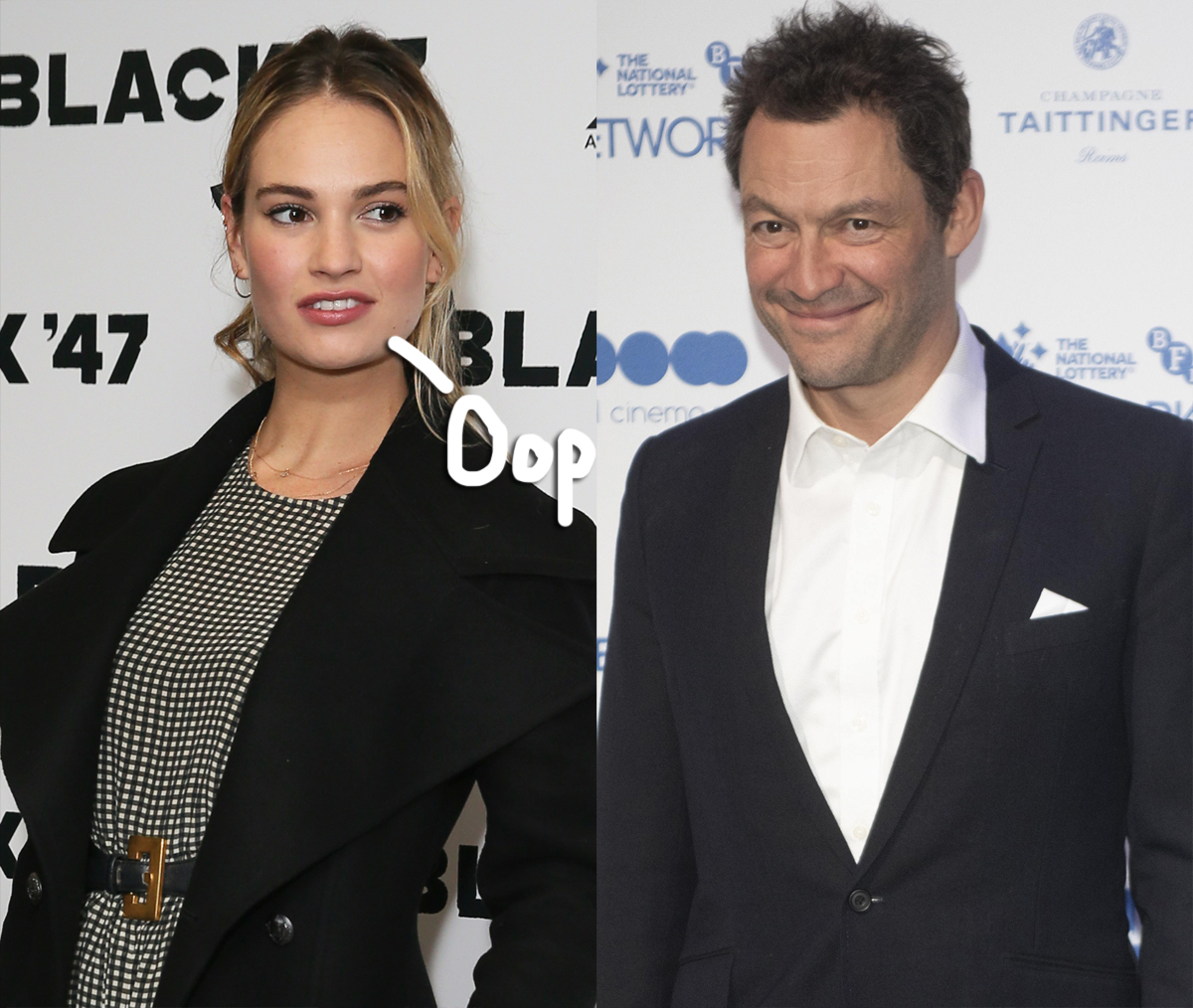Lily James Dominic West kissing photos horrified