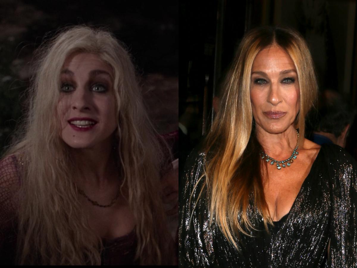 sarah jessica parker of hocus pocus then and now
