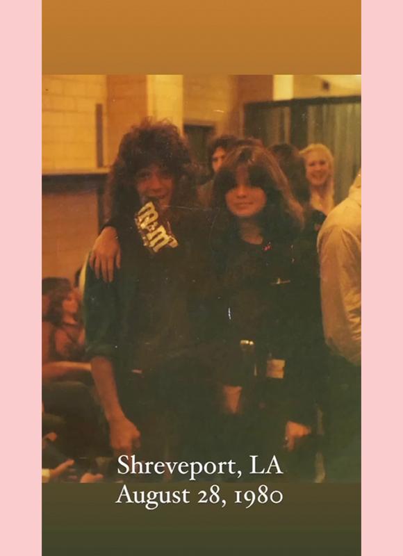 valerie bertinelli eddie van halen instagram story 2: Shreveport, LA August 1980