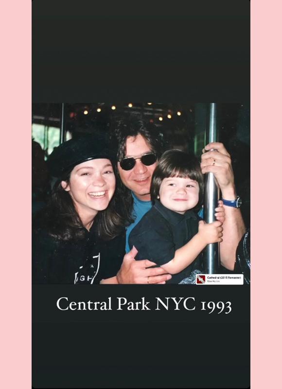 valerie bertinelli eddie van halen ig story 5: Central Park 1993 with Wolfgang
