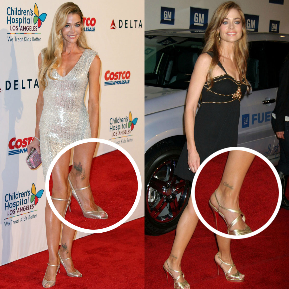 Denise Richards covers up tattoo