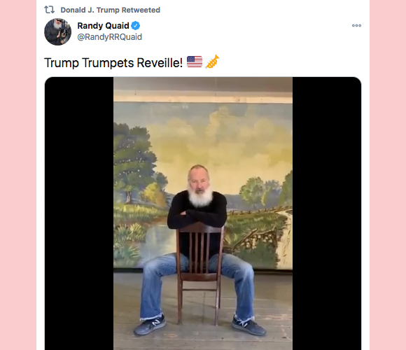 Donald Trump retweets Randy Quaid Twitter