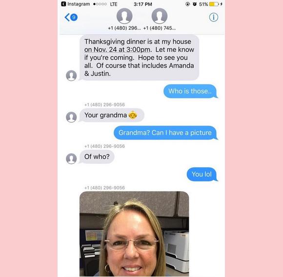 Jamal Hinton's Thanksgiving Instagram Text