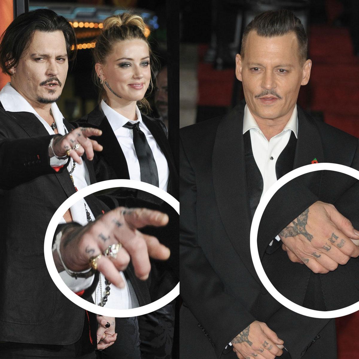 Johnny Depp covers up Amber Heard tattoo