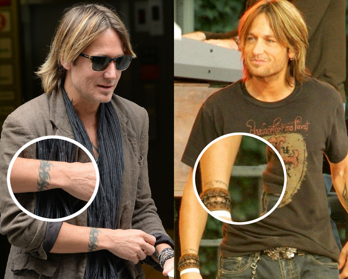 Keith Urban covered up his tattoo