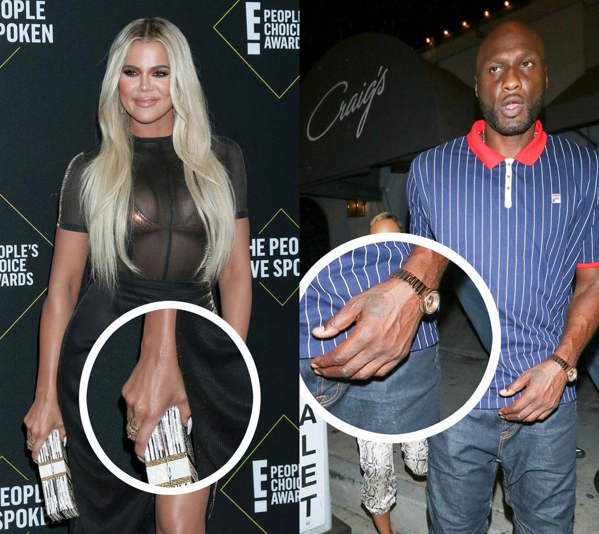 Khloe Kardashian and Lamar Odom's tattoos after their split
