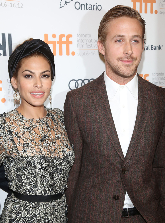 eva mendes and ryan gosling, the place beyond the pines premiere