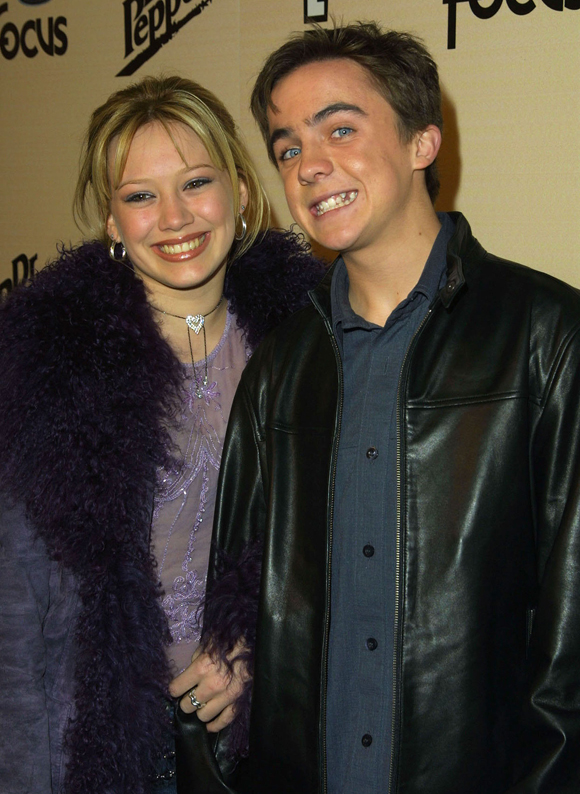 frankie and ex girlfriend hilary duff in 2002