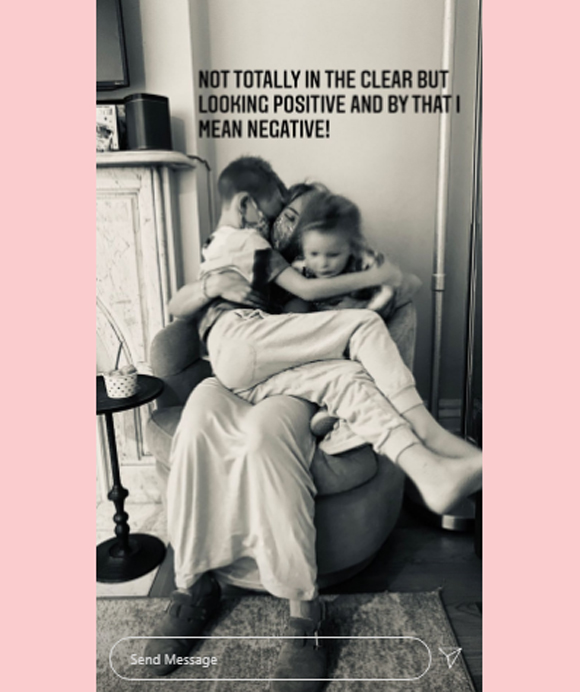 Hilary Duff hugs kids amid coroanvirus quarantine