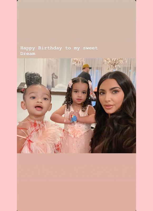 kim kardashian dream birthday ig story