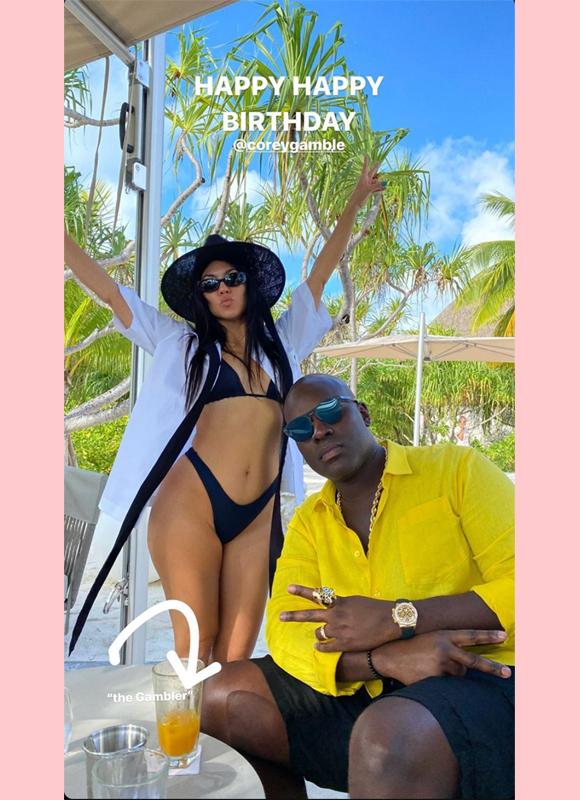 kourtney kardashian cory gamble aniversário ig história