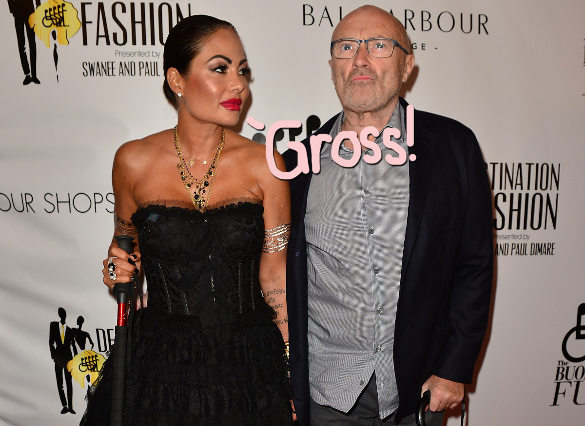 Phil Collins Ex Claims He Smelled So Bad She Couldn T Be Near Him Perez Hilton Orianne cevey got a divorce from singer phil collins, and she got a huge payday too. phil collins ex claims he smelled so