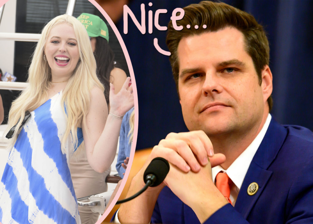Rep Matt Gaetz Gets Dragged For Inappropriate And Creepy Tweet To Tiffany Trump Perez Hilton