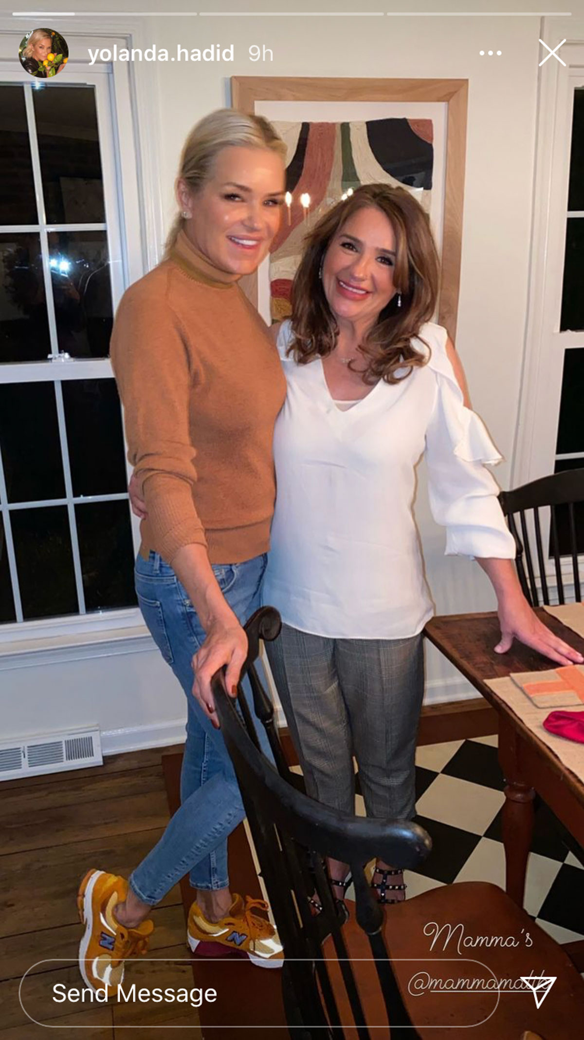 Yolanda Hadid and Tricia Malik seen enjoying their Thanksgiving time together as proud grandmas!