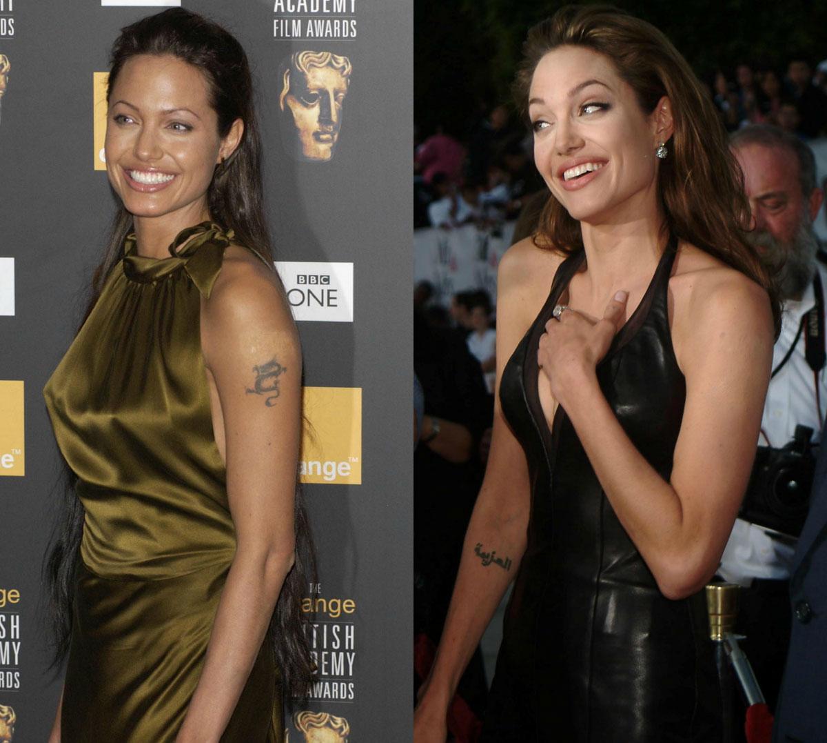 Angelina Jolie tattoo removal
