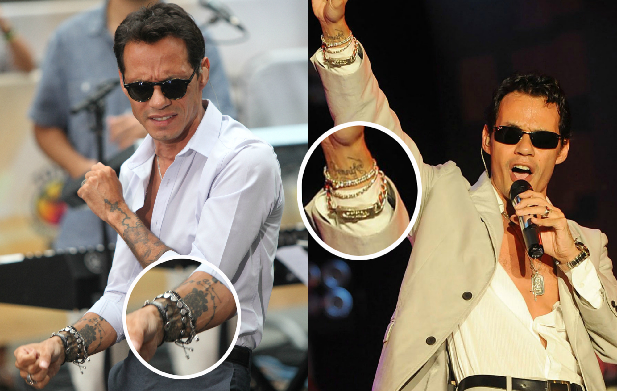 Marc Anthony's covered up tattoo