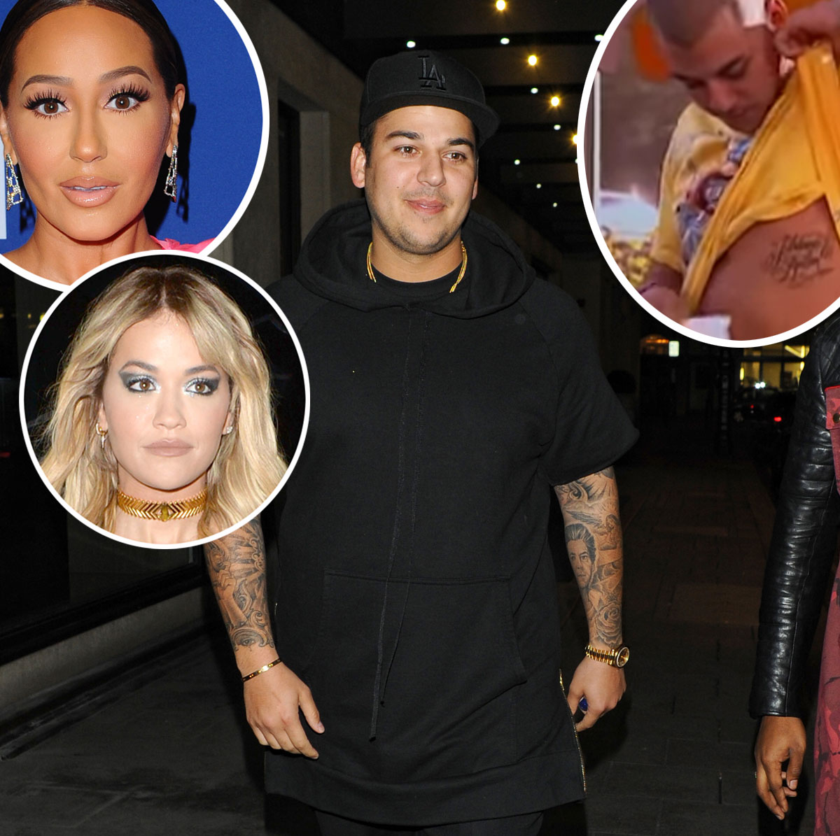 Rob Kardashian covers up Rita Ora and Adrienne Bailon tattoos