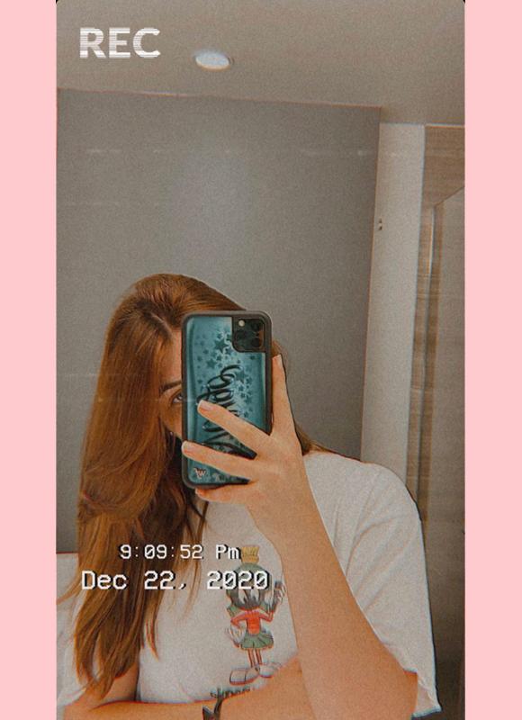 bella giannulli new hair ig story 1