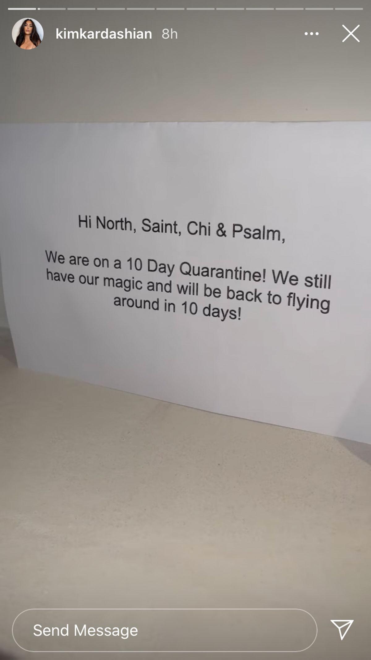 Kim Kardashian is so tired of the elf on the shelf that she put 'em in quarantine!