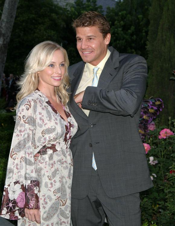 David Boreanaz and wife Jamie Bergman in 2006