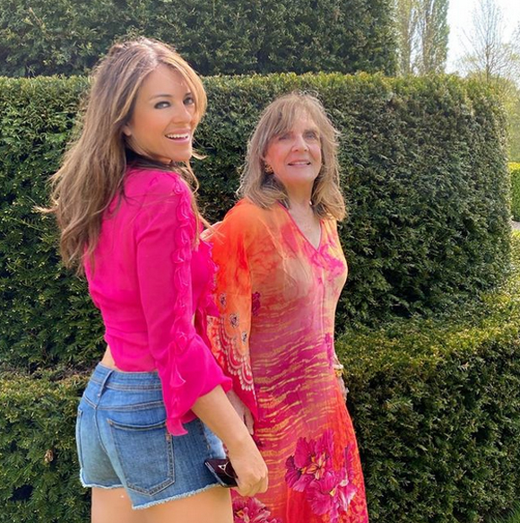 Liz Hurley and her mother Angela Mary Hurley