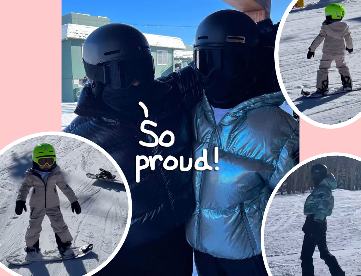 kylie jenner stormi webster snowboarding ski trip aspen