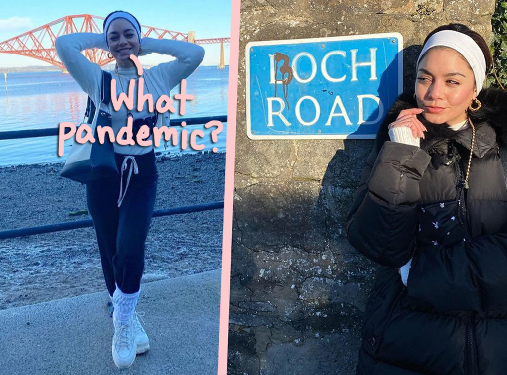 Vanessa Hudgens is taking heat for her pandemic-related travel in Scotland!