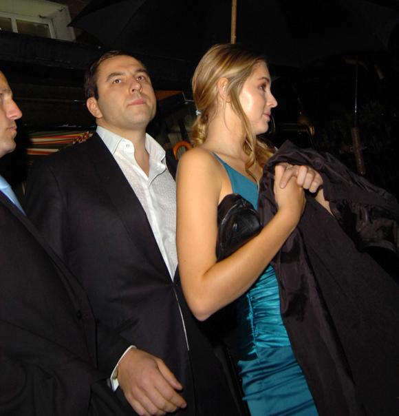 David Walliams and Keeley Hazell in 2007