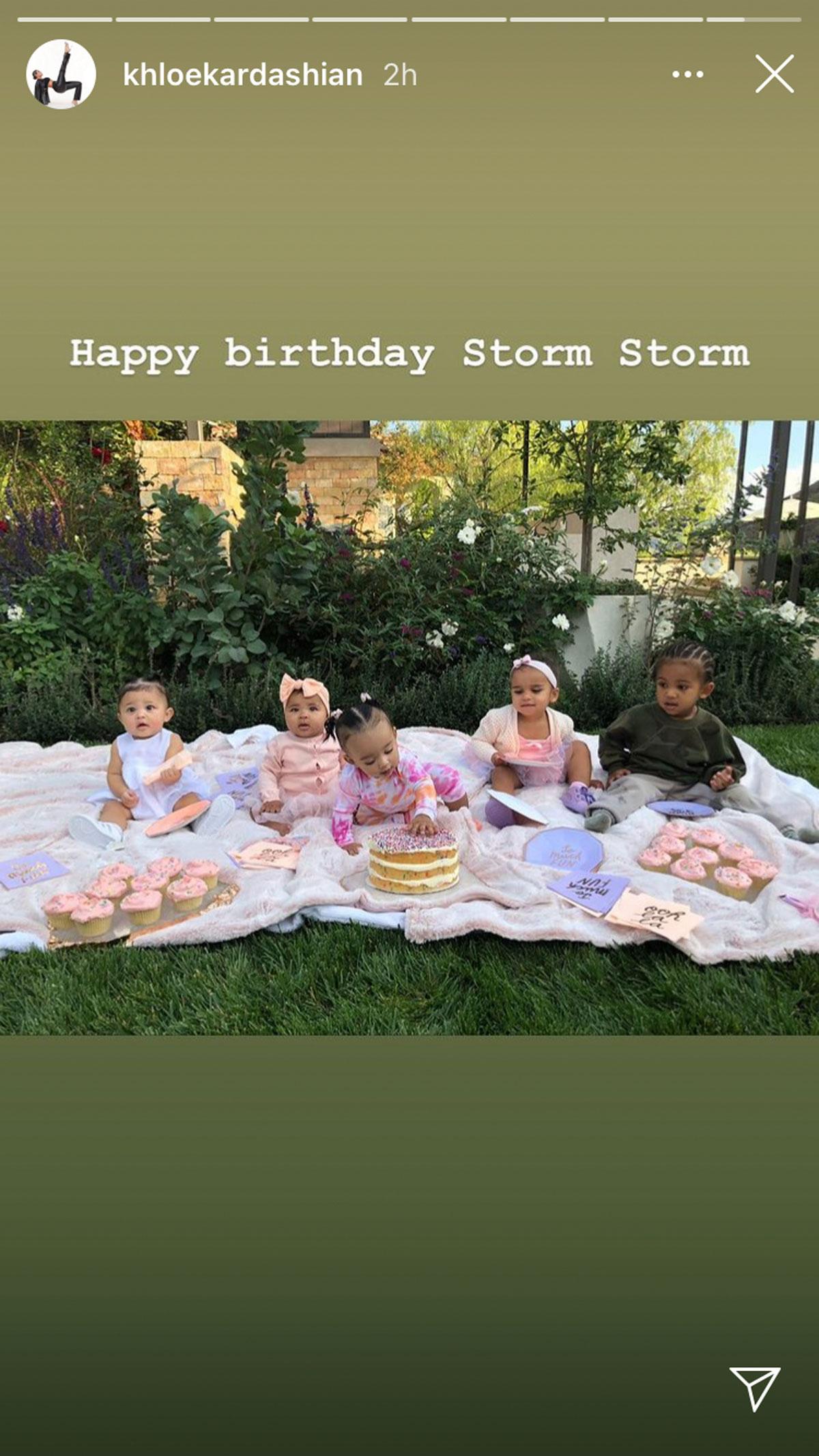 Khloe Kardashian wishes Stormi Webster a happy birthday!