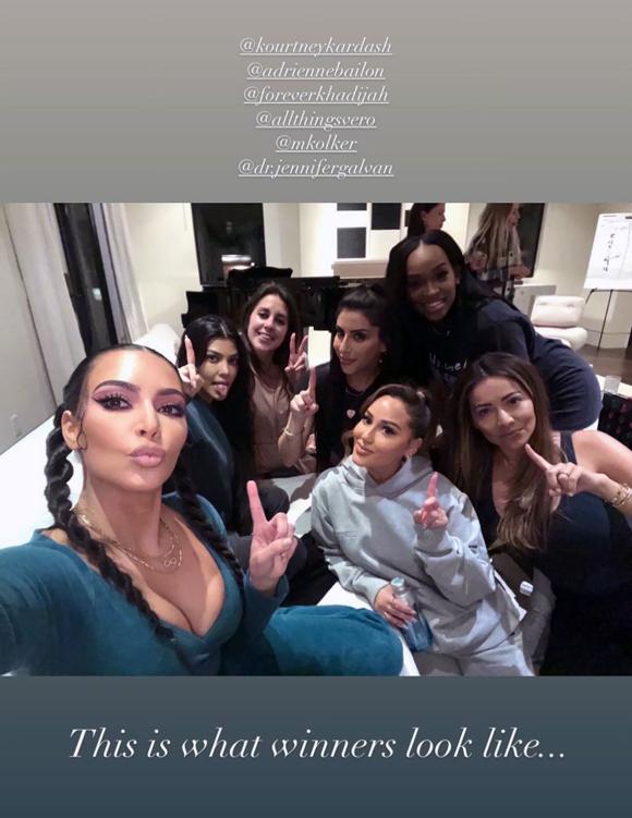 Kim Kourtney Kardashian game night winners