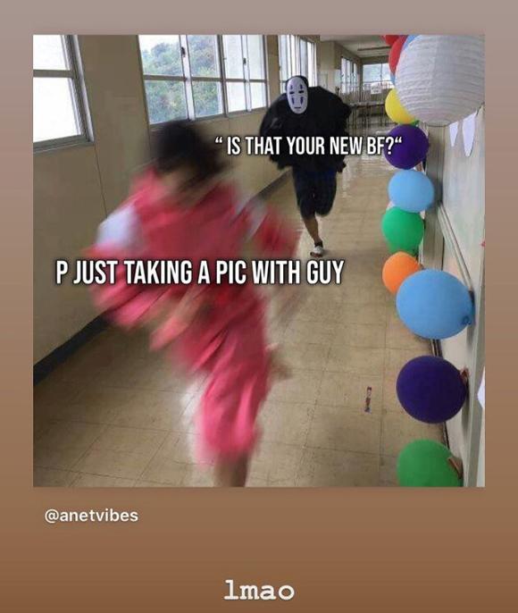 Paris Jackson BF meme Instagram Story