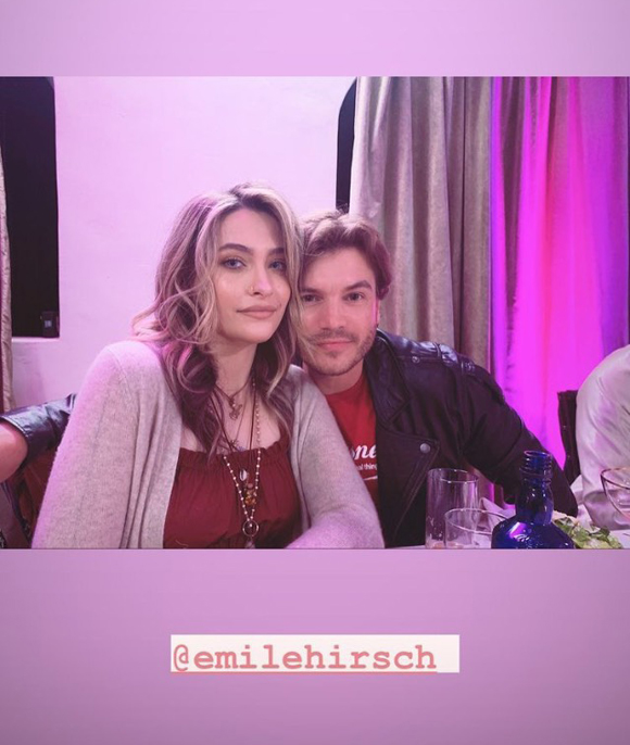 Paris Jackson and Emile Hirsch Instagram Story