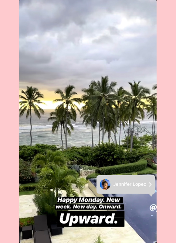 alex rodriguez : JLo Dominican Republic IG story