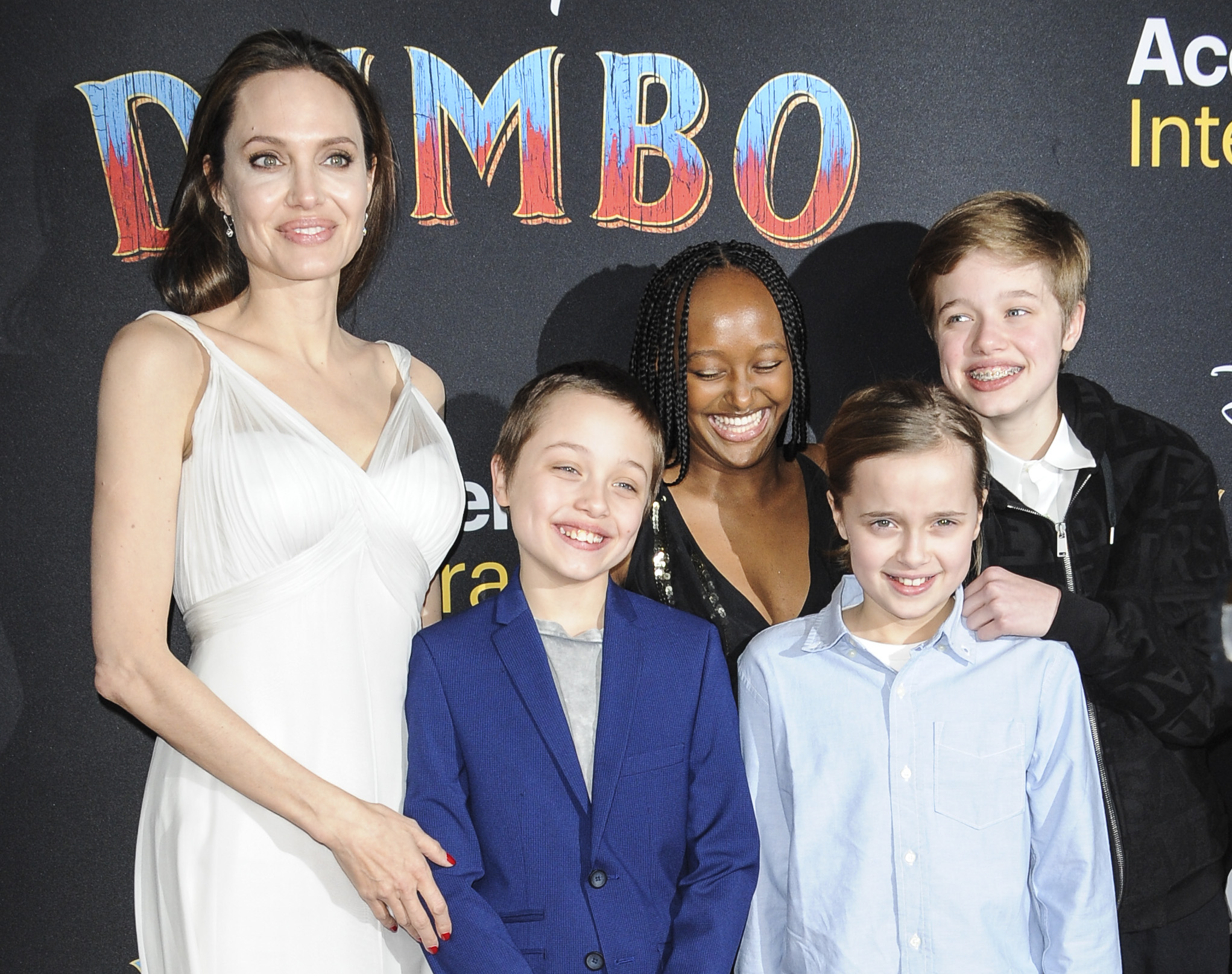 Angelina Jolie & Her Kids At Dumbo Premiere In 2019