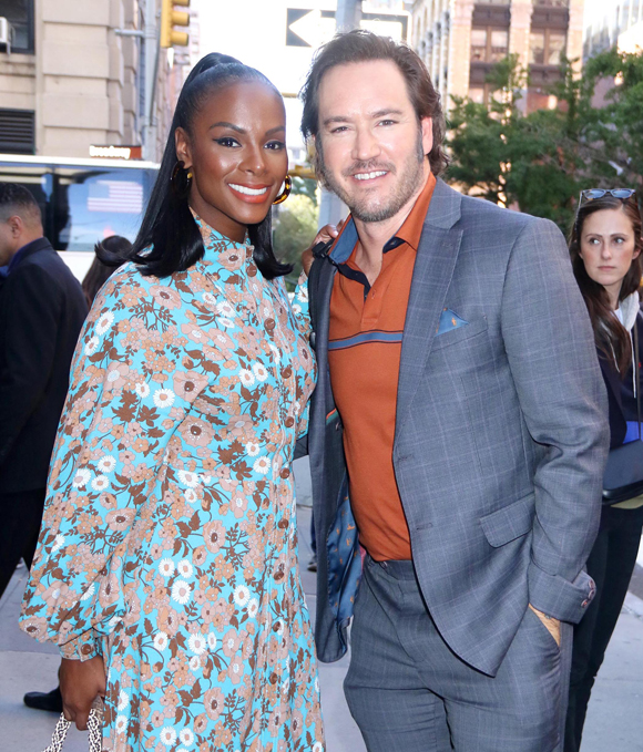 Mark-Paul Gosselaar and Tika Sumpter promoting Mixed-ish