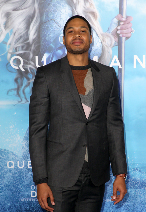 Ray Fisher at the premiere of Aquaman in 2018