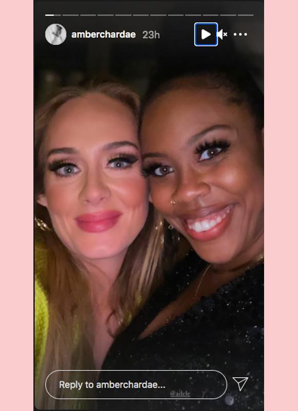 adele, amber chardae : instagram story