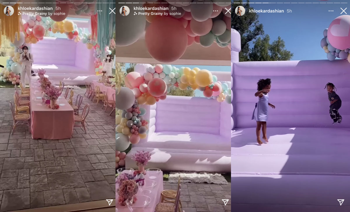 Khloé Kardashian and family celebrated True Thompson's third birthday today!