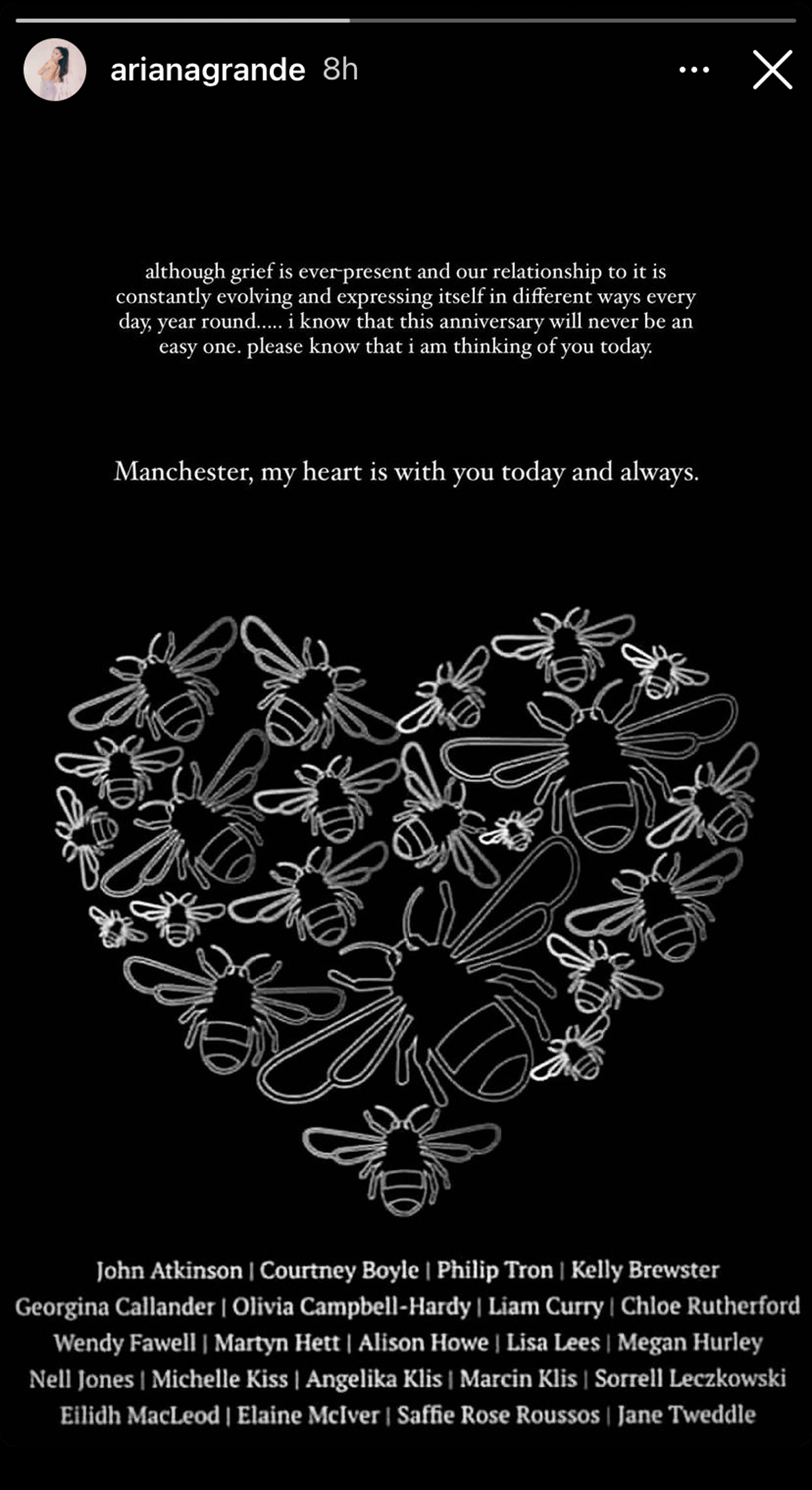 Ariana Grande Remebers Victims On 4th Anniversary Of Manchester Bombings