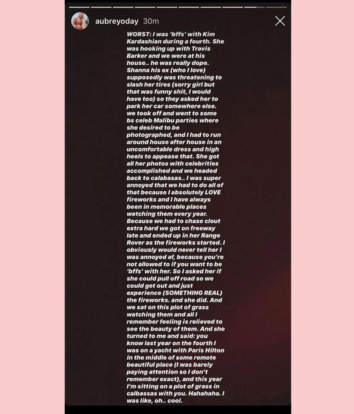 Aubrey O'Day claims Kim Kardashian and Travis Barker definitely used to hook up!