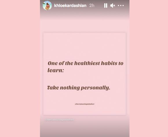 Khloe Kardashian Instagram Story Breakup