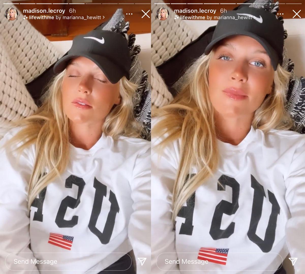Madison LeCroy had a few nip slips on Instagram Live on Sunday night! Oops!