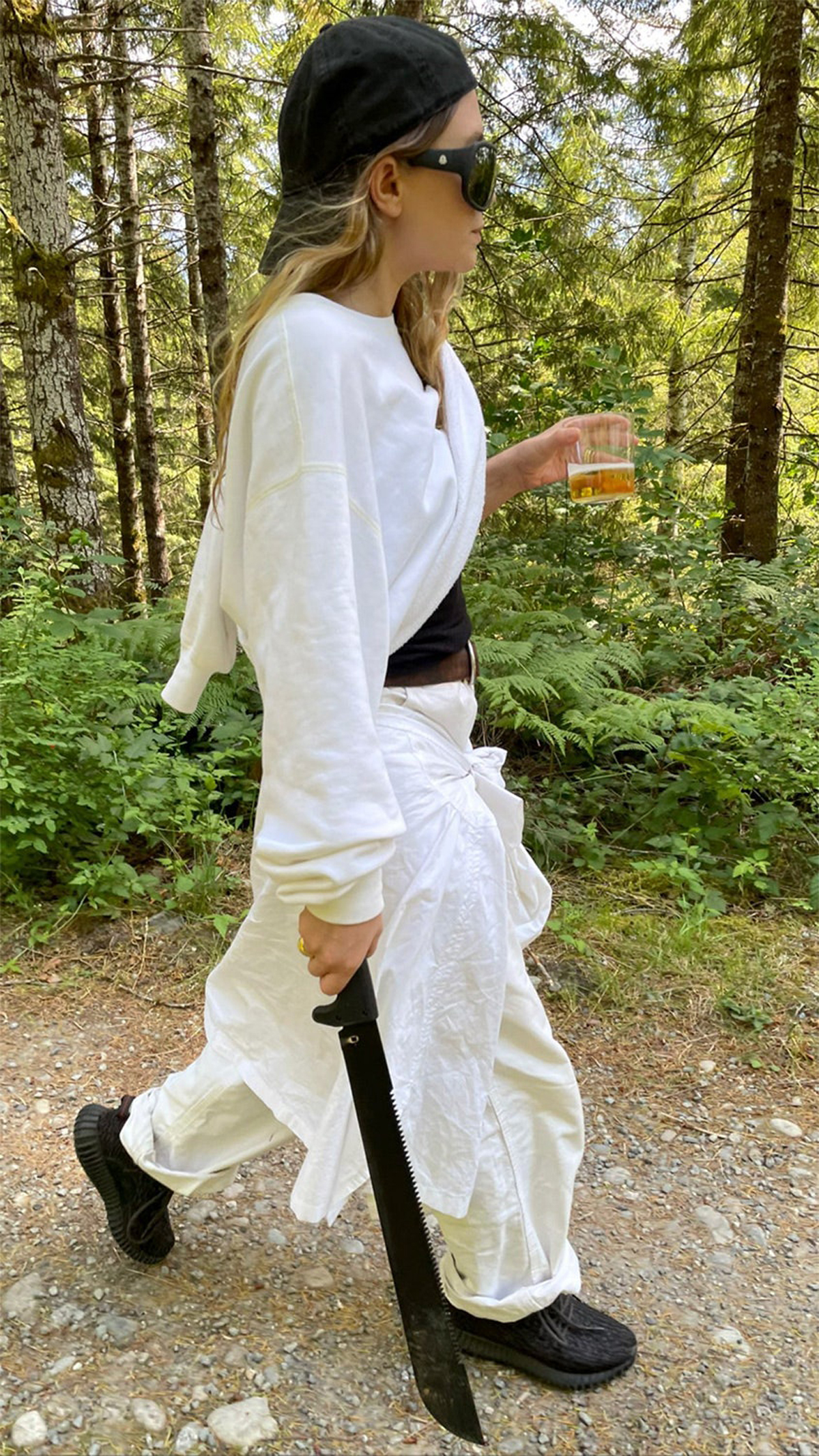 Ashley Olsen Carries Giant Machete On A Hike In Rare Picture From Her Boyfriend Louis Eisner