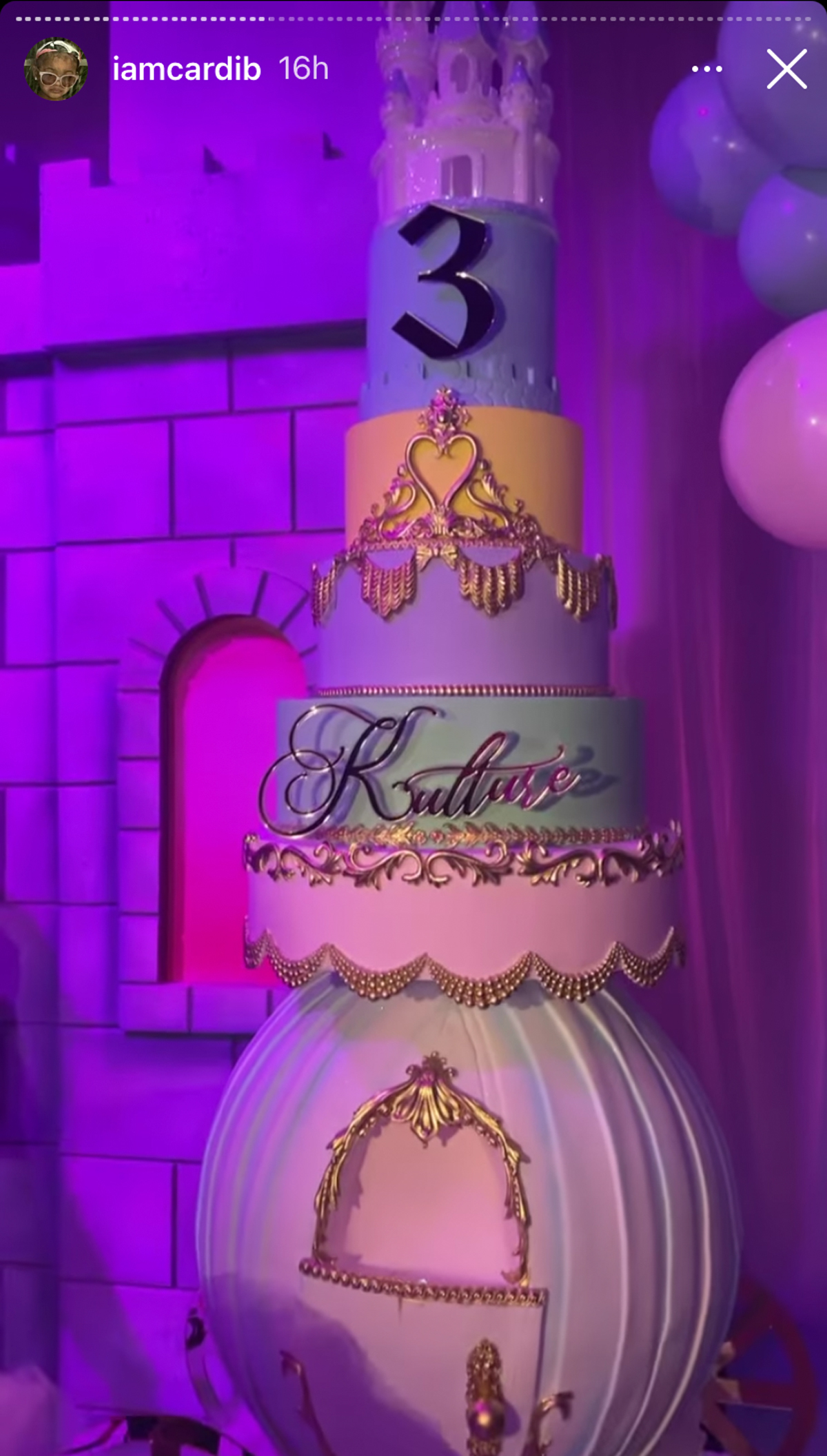 Cardi B & Offset Throw Epic Fairytale-Themed Birthday Bash For Daughter Kulture!