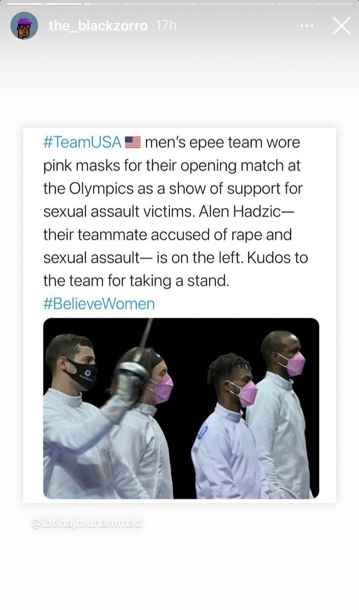 US Olympic Fencers Wore Pink Masks To Protest Their Teammate Accused Of Sexual Misconduct