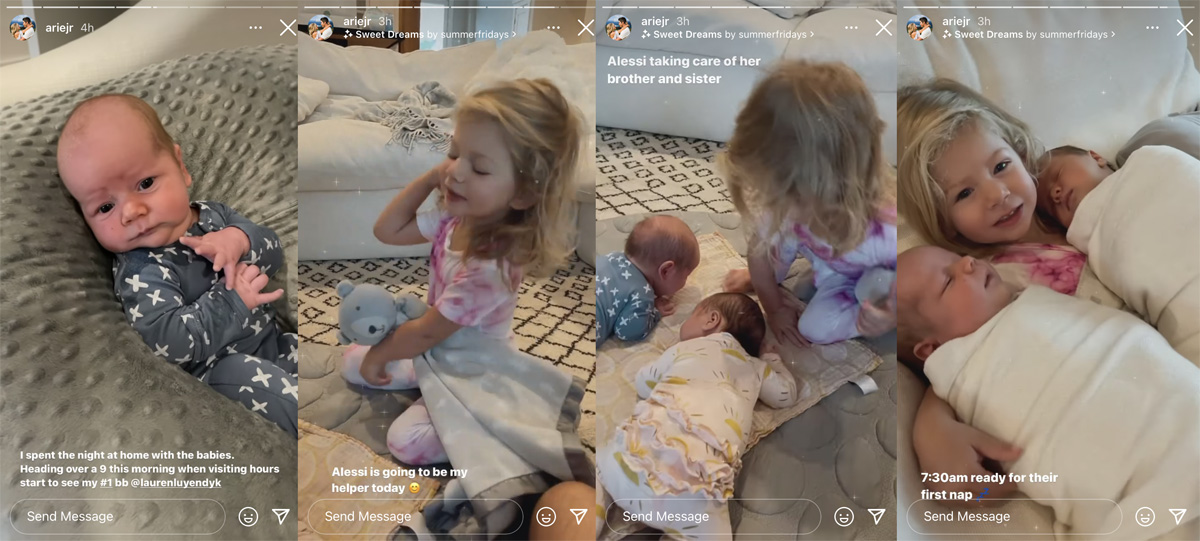 Arie Luyendyk reveals Lauren Burnham has been hospitalized for postpartum health complications!